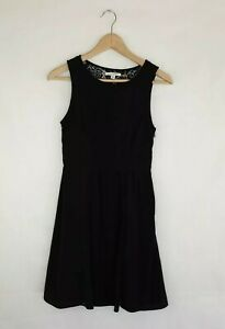 American Eagle Outfitters Black A Line Dress Lace Back US Size 0 Lined