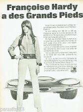 PUBLICITE ADVERTISING 115  1968  Pneus UNIROYAL   avec François Hardy
