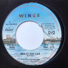 Paul McCartney Wings 45 PROMO With A Little Luck