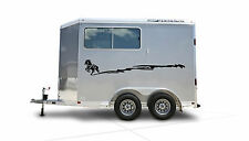 Horse Running Border Horse Trailer RV Decal Stickers 10x70 Set of 2 Stickers
