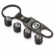 Car Wheel Tyre Valve Stems Cap Auto Part Dust Cover Keychain Logo For Mazda 3 5