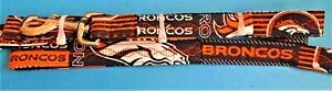 "*NEW* NFL Denver Broncos Pet  Dog Leash 70"" length , 1"" width"