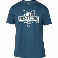 Fox Racing Flat Head Premium Men's T-Shirt Tee Navy S M NEW