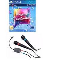 PS4 SingStar CELEBRATION Game + 2 Wired Sing Star Microphones - FAST DELIVERY