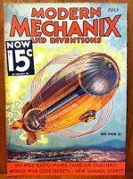 MODERN MECHANIX MAGAZINE JULY 1933 DO WILD RADIO WAVES CAUSE AIR DISASTERS?