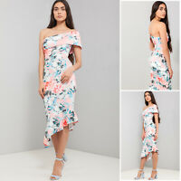 ASOS NEW Occasion Wedding Party Casual Maxi Midi Multi Floral Print Dress 8-18
