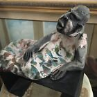 Raku Pottery Sculpture Reclining Man Sharon Factovowich Tel-Aviv Ducks No Bronze