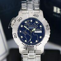 Mens Watch BEUCHAT Oceanium 300mm Steel Blue Dial 42mm Divers Watch-Swiss Made