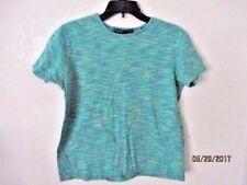 vintage woman's Karen Scott lavender green short sleeve tee shirt