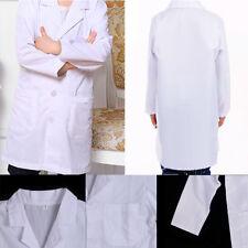 Kid Children White Lab Coat Doctor Hospital Scientist School Fancy Dress Costume