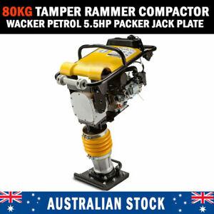 New 80kg Tamper Rammer Compactor - Wacker Petrol 5.5HP Packer Jack Plate