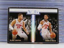2019-20 Noir Blake Griffin Derrick Rose Split Screen Framed Card #/25 Pistons DR