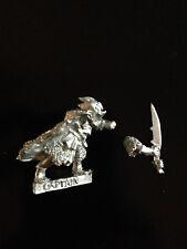 Warhammer Lord of The Rings LOTR - Gundabad Blackshields Captain Metal OOP