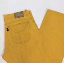 Jeckerson pantalone cotone pettinato KE008U w38 tg 52 gialli dritti slim T1878