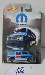 Hot wheels Mopar Custom Dodge 1977 Van Blue 2/8 Nice FNQHotwheels FJ406