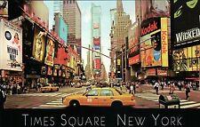 Yellow Cab at Times Square Broadway Ads Mamma Mia, New York City, NYC - Postcard