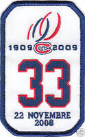 NHL MONTREAL CANADIENS RETIREMENT PATCH PATRICK ROY #33