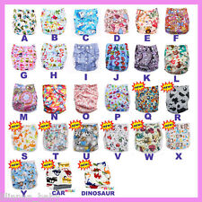 10 x Resuable Clothes Nappies - One Size fit all  - you pick the colours