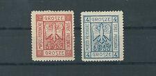 Deutsche Post in Polen Lokalausgabe Przedborz 1-2 A ungebraucht falsch (B00728)