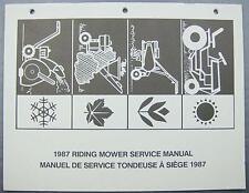 1987 Riding Mower Svc Manual Mastercraft MTD Lawnflite Turf-Trac Landmark White