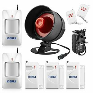 The Newest KERUI 115db Home Security System,Indoor Outdoor Weather-Proof