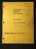 New Holland Service Parts Catalog Model L-325 Skid Steer Loader *565,593