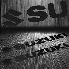 """x2 7""""Fuel Gas Tank Fender/Fairing Decal Logo Vinyl Sticker for Suzuki Black GSXR"""