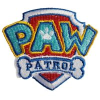Paw Patrol Logo Iron On Patch Sew on Embroidered Transfer Brand New