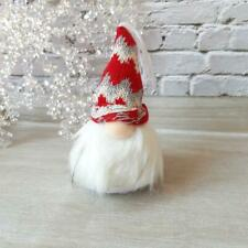 White Nordic Christmas Gonk With A Knitted Hat