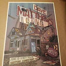 Dave Matthews Band Limited Edition Gig Print by Landland Hartfod Conn. 2015