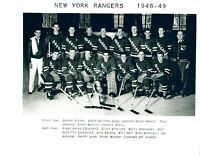 1948 1949 NEW YORK RANGERS 8X10 TEAM  PHOTO  HOCKEY NHL USA HOF