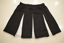 NEW!! Cheerleading Uniform Box Pleat Liberty Skirt Augusta 9115 9116 Black White