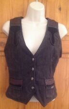 We Are Replay Designer Cow Boy Girl Western Fitted Waist Coat Small UK 10