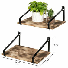 Set of 2 Floating Shelves Wall Mount Rustic Wood Wall Shelves for Home Decor