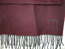 NEW FENDI 100% WOOL WINTER UNISEX SCARF MADE IN ITALY