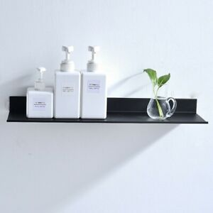 Punch Free bathroom floating shelves Black Kitchen Wall Shelf Storage Rack 30-50