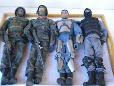 2- 12 INCH M&C MILITARY DOLLS & 2- ACTION FIGURE DOLLS & ACCESSORIES
