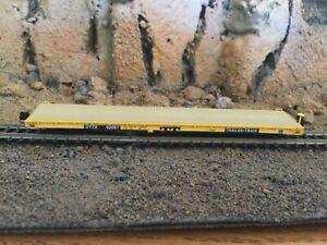 N Scale Intermountain 60' flat car DTTX TRAILER TRAIN mtl cplrs. NIB
