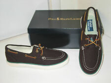 Ralph Lauren Polo Sander Flannel Dark Brown Oxford Boat Deck Style Shoes Mens 10