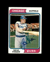Gene Hiser Signed 1974 Topps Chicago Cubs Autograph