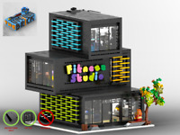 Modular Ecke Fitnessstudio - MOC - PDF Bauanleitung - kompatibel mit LEGO Steine