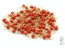 50Pcs Red Gold Tone Soldering PCB Board Breadboard Test Point Pin New