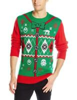 New Officially Licensed Star Wars Ugly Christmas Sweater Men's Size S ____S81
