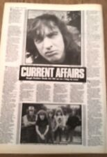 AC/DC 'current affairs' 1984 UK ARTICLE / clipping