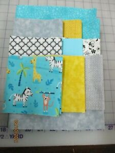 Adorable Baby African Animals Disappearing 9 Patch Baby Quilt Complete Kit