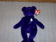 1997 Purple Princess Diana Ty Beanie Baby Made in China P.E. Pellets , RARE