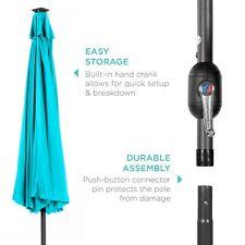 Best Choice Products 10' Solar LED Tilt Patio Umbrella -NEW