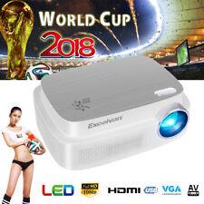 Projector 6000 Lumens 1080P HD Beamer HDMI USB AV FOR Outdoor Movie World Cup