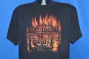 vintage HARLEY DAVIDSON FIRE BURNING FT LAUDERDALE FLORIDA t-shirt LARGE L