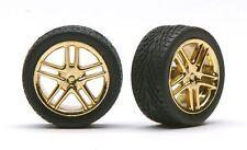 Pegasus 1244 x 1/24-1/25  Allantes Gold Rims w/Low Profile Tires (4)